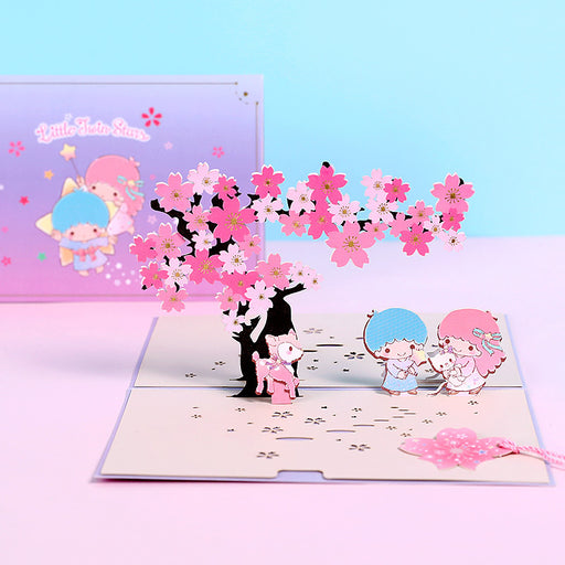Kawaii Japanese Korean -3D three-dimensional greeting card birthday wishes gift creative small cards