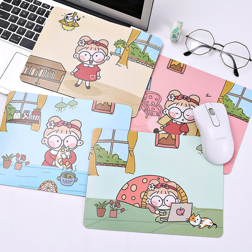 Kawaii Japanese Korean ins girly heart little girl waterproof non-slip computer mouse pad