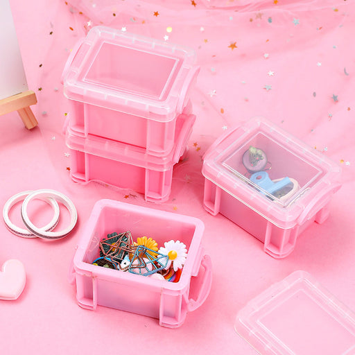 Kawaii  Japanese  Korean  Girlish Heart Pink Storage Box Ring Earring Jewelry Box Candy Box