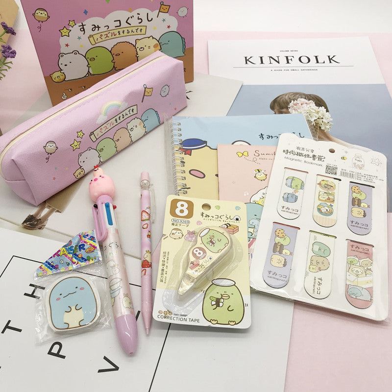 Cute Japanese Korean-Sumikko Gurashi Stationery Set Gift Box