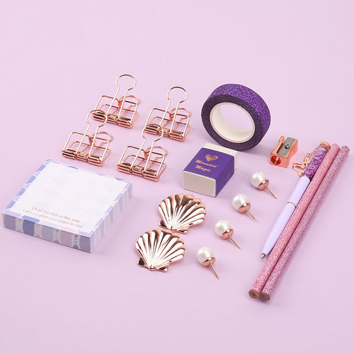Stationery set / ticket clip / ballpoint pen / notice sticker / pushpin / paper tape / pencil / gift gift set
