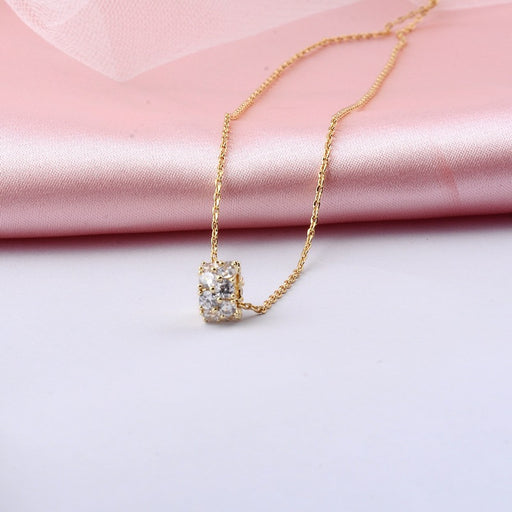 Kawaii Japanese Korean  Full rhinestone waist and cold wind clavicle necklace