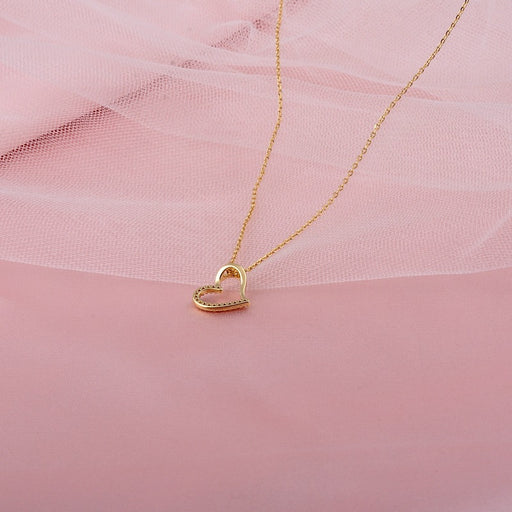 Kawaii Japanese Korean  Love heart-shaped clavicle necklace