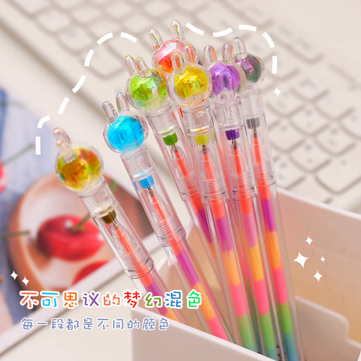 Kawaii  Japanese  Korean  Cute rabbit gel pen highlighter