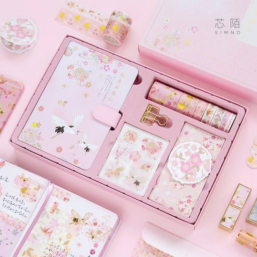 Kawaii Japanese Korean Girly Heart Sakura Gift Set Retro Pocket Note