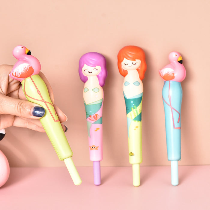 Kawaii  Japanese  Korean  Flamingo Anime Mermaid Decompression Pen