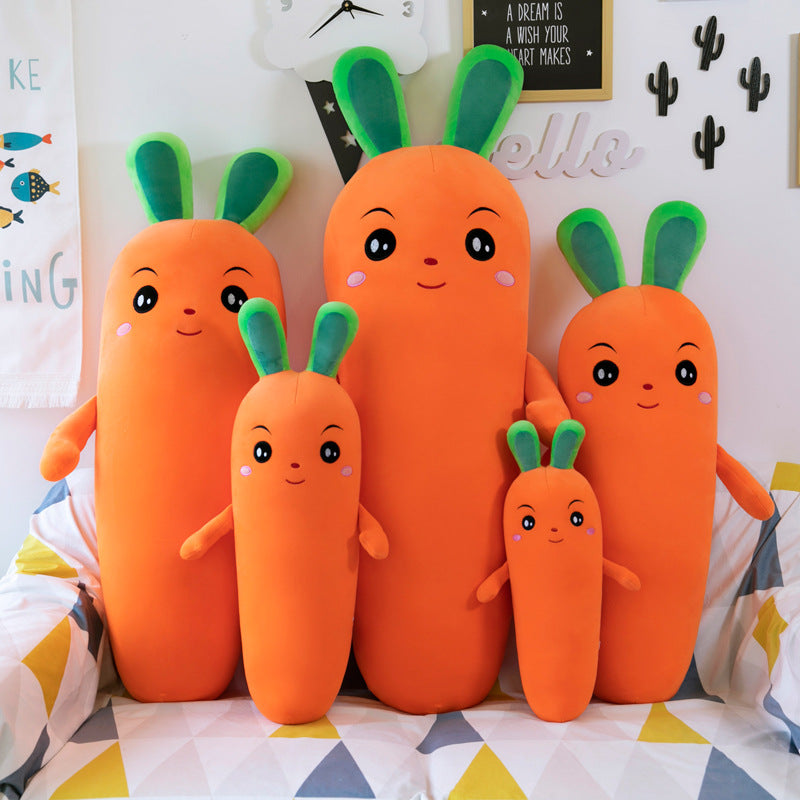 Kawaii  Japanese  Korean Cute carrot pillow doll clip leg doll doll gift