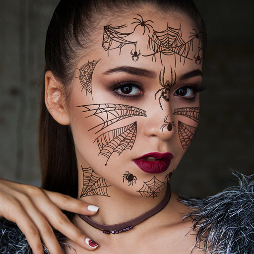 Phantom of the Spider  SPIDER STYLE Temporary facial makeup stickers