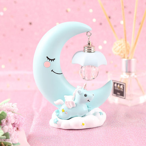 Kawaii  Japanese  Korean  Night Light Moon Cloud Unicorn Gift