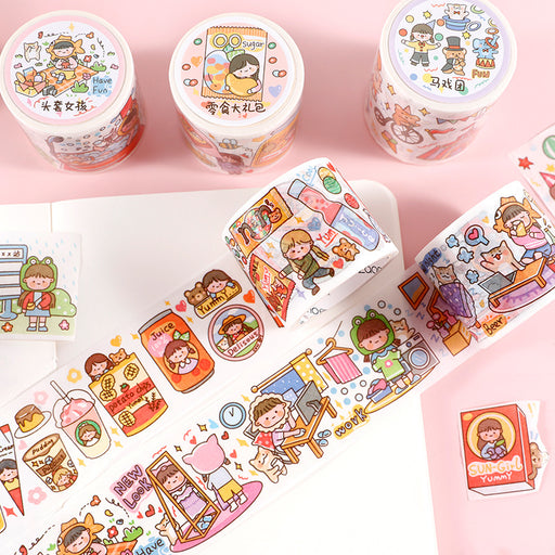Kawaii  Japanese  Korean The first season of Macquarie, fresh and cute characters, pocket tape, stickers