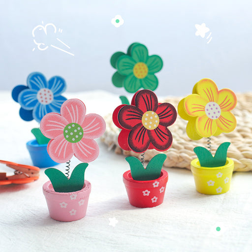 Kawaii Japanese Korean Cute wooden flower photo clip ornament