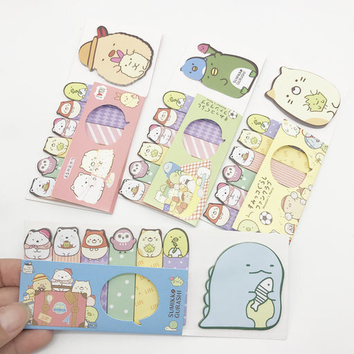 Kawaii  Japanese  Korean  Cartoon bio sticky notes corner shape sticky notes cartoon sticky notes