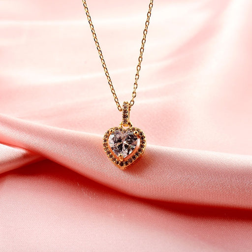 Kawaii Japanese Korean  Diamond Love Necklace