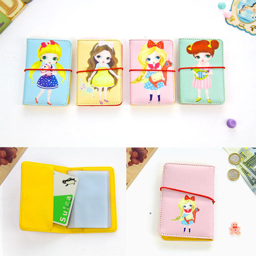 Korean version of the big eye sister card package cute girl flower imitation pickup card jacket