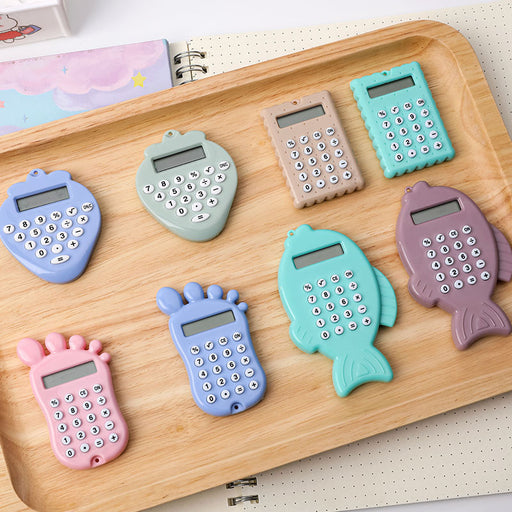 Cute cartoon biscuit fun mini calculator