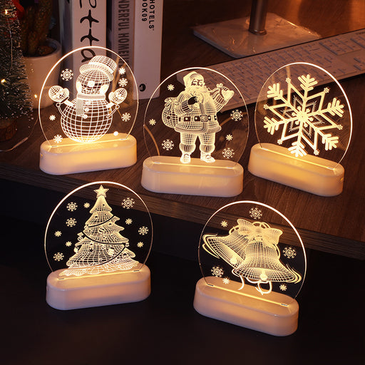 Kawaii Japanese Korean   3D night light room decoration star lights/LED Santa Claus string lights