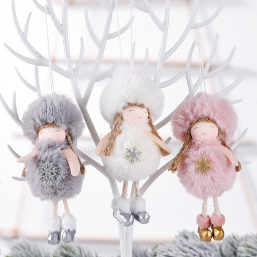 Kawaii  Japanese  Korean  Christmas plush angel charm/cute doll gift christmas tree pendant