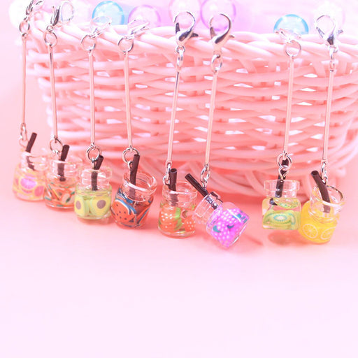 Kawaii  Japanese  Korean -Fruit Storm Drifting Bottle Pendant  Pen Cute Gel Pen Super Cute Black Pen