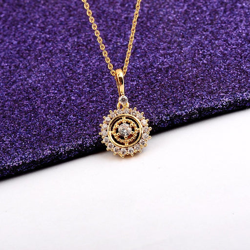 Kawaii Japanese Korean    Lucky Compass Clavicle Necklace