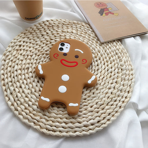 Aesthetic  Three-Dimensional Cute Gingerbread Phone Case