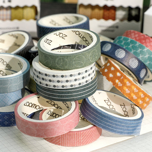 Kawaii  Japanese  Korean Set foot in the wilderness, tear off diary and account paper tape-5 rolls