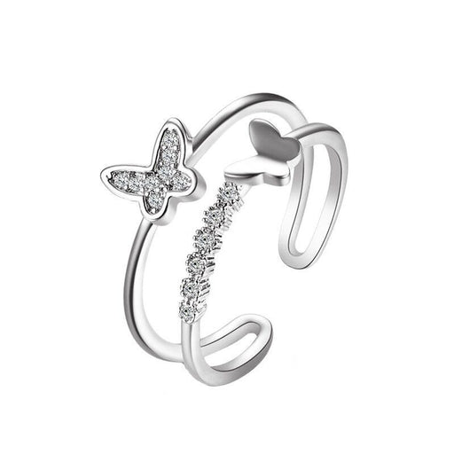 Kawaii  Japanese  Korean Retro personality open index finger ring butterfly ring