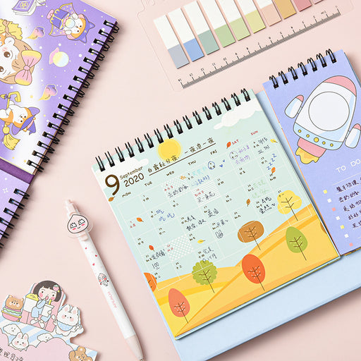Kawaii Japanese Korean Chestnut Jun Memo 2021 Desk Calendar