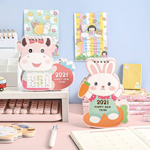 Kawaii Japanese Korean cute cartoon style 2021 desk calendar