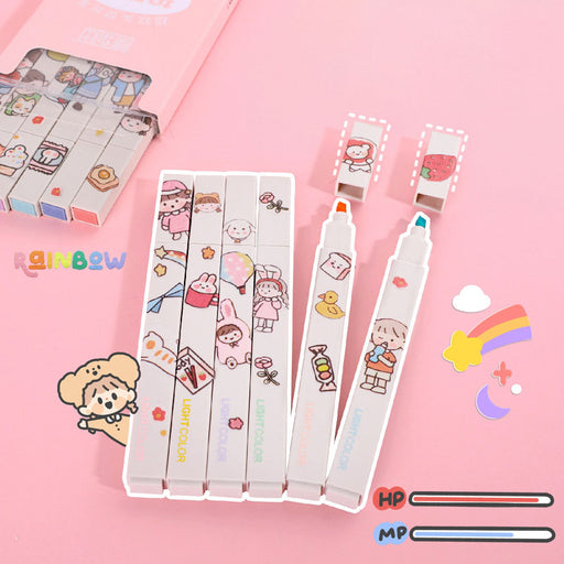 Kawaii  Japanese  Korean Cute hand diary hand-painted pastl highlight pen