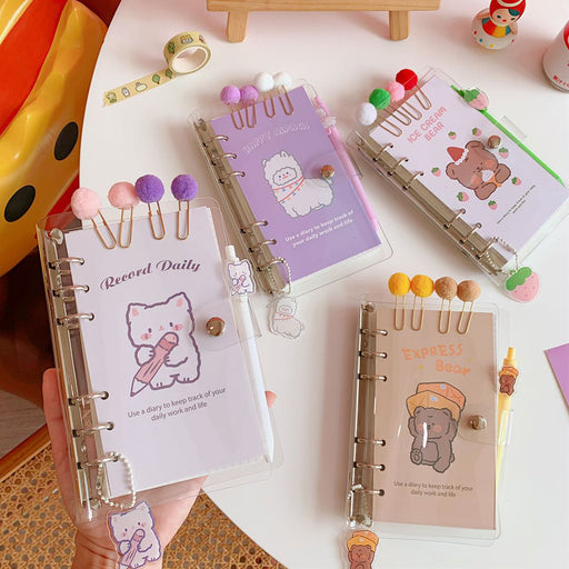 Kawaii Korean Cute girly heart loose-leaf notebook notebook