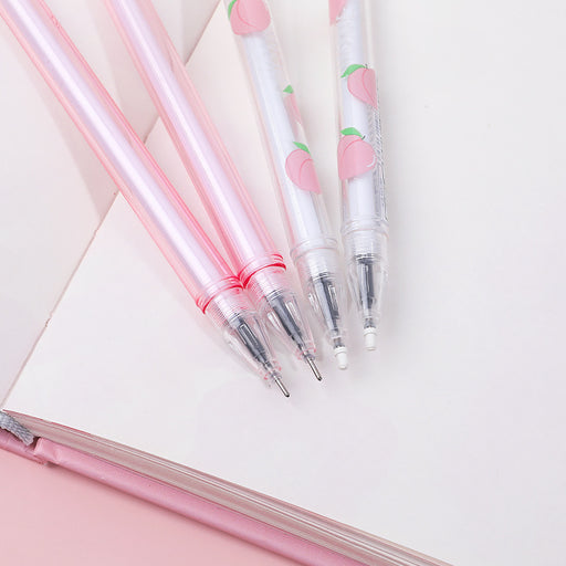 Kawaii  Japanese  Korean Girl's Heart Sequins Peach Gel Gel Pen