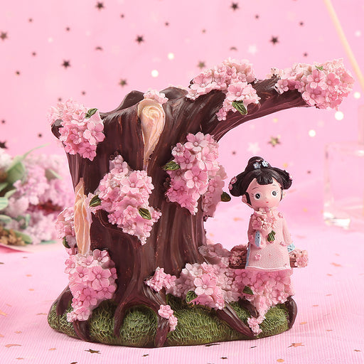 Cherry Blossom Tea Pen Holder