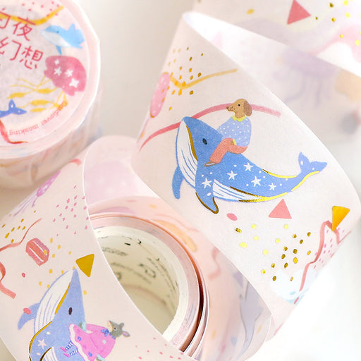Cardlover  Japanese Fairy Tale Forest Tales Bronzing Paper Tape