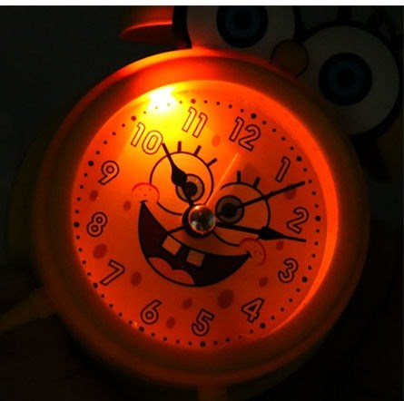 Kawaii Japanese Koreanins girl heart night light unicorn metal silent simple alarm clock