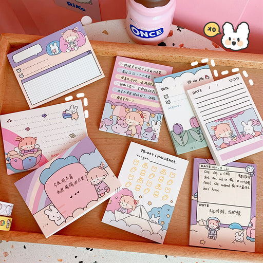 Kawaii Japanese Korean Cartoon Creative Cute Girl Heart Memo Pad/Tag