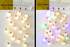 Kawaii Japanese Korean  5 cm LED lantern/Big round ball string lights // Christmas decoration lights festival