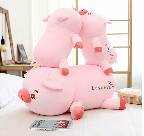 Kawaii  Japanese  Korean Pink Toot Pig Doll Pillow