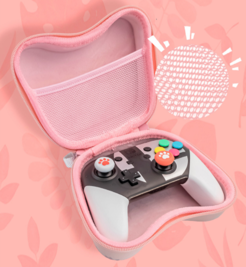 Kawaii  Japanese  Korean Sakura Switch Pro Handle Storage Bag