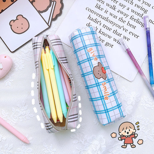 Kawaii  Japanese  Korean Large capacity pencil case/zipper pencil case, portable waterproof stationery bag, pencil case