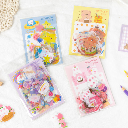 Kawaii Japanese Korean Rosy Posy sticker