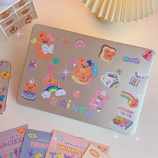 Kawaii Japanese Korean Cute Cartoon Sweet Bear Pocket Sticker/1 pack-2 sheets