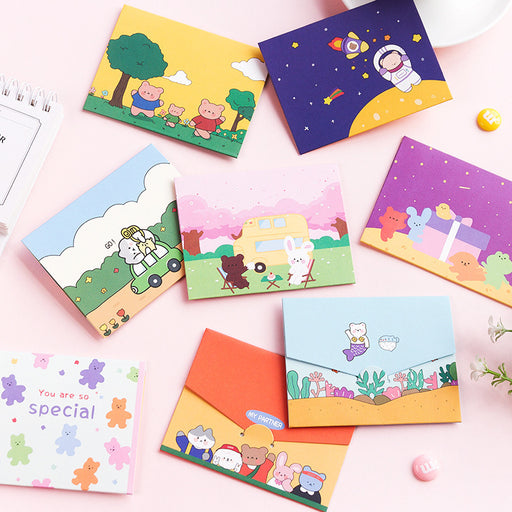 Kawaii  Japanese  Korean  Mini cute gift message greeting card blessing card