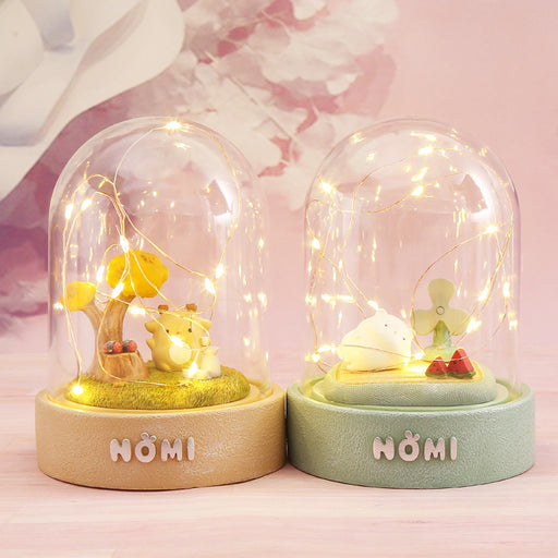 Aesthetic Happy Girl  Small Glutinous Rice Star Glass Home Night Light