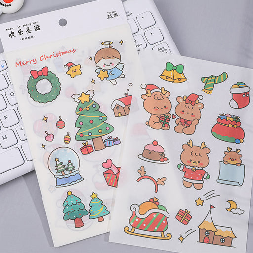 Kawaii Japanese Korean Santa Claus Decoration Sticker