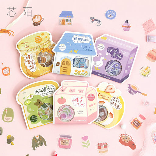 Kawaii  Japanese  Korean  Si mno fresh and cute cartoon sticker