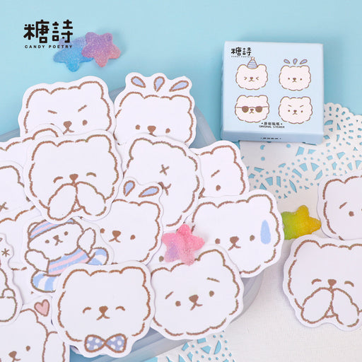 Kawaii  Japanese  Korean Candy poetry cool bear cub stickers cartoon hand account album stickers