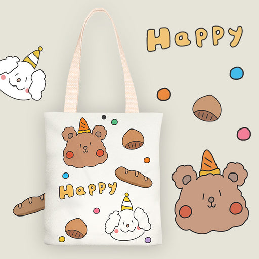 Bread Bear Canvas Bag