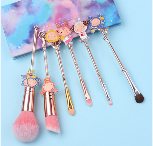 Kawaii  Japanese  Korean  -Twelve constellation metal makeup brush