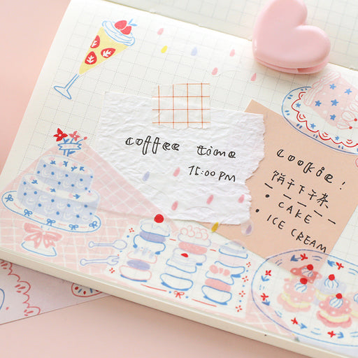 Girl'S Heart Dessert Appreciation Period Strawberry Cake Tape