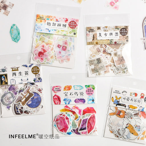 Infeel.Me Cute Retro Color Sticker